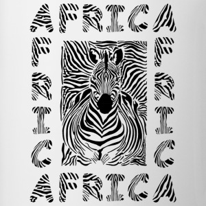 African Giraffe African Safari Africa map  t-shirt - Coffee/Tea Mug
