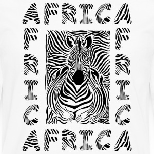 African Giraffe African Safari Africa map  t-shirt - Men's Premium Long Sleeve T-Shirt