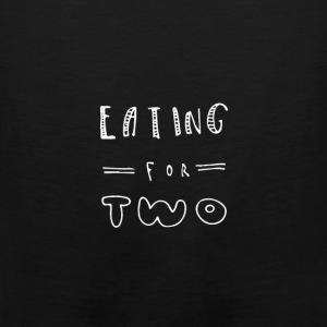 Eating For Two Maternity T Shirt - Men's Premium Tank