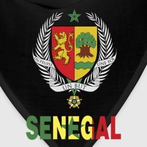 Senegal Coat Of Arms Flag T-Shirt - Bandana