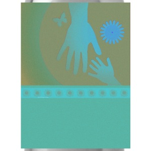 Babysitter Turquoise Tan Hands - Water Bottle