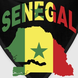 Senegal Flag in Senegal Map T-Shirt - Bandana