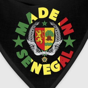 Made In Senegal With Senegal Coat Of Arms T-Shirt - Bandana