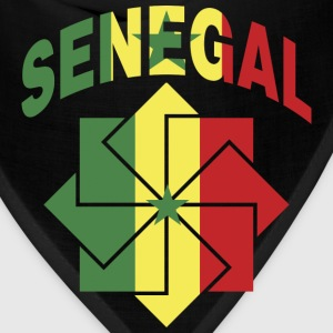 Senegal Flag In Ornament T-Shirt - Bandana
