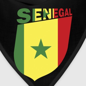 Senegal Flag Cliped Inside a Shield - Bandana