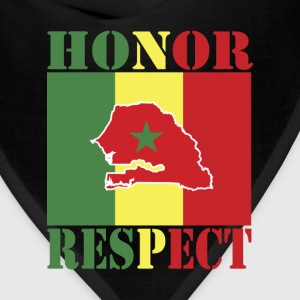 Honor Respect Senegal Flag T-Shirt - Bandana