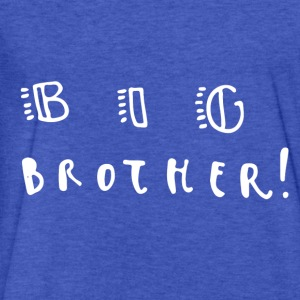 Big Brother Boy's Hoodie - Fitted Cotton/Poly T-Shirt by Next Level