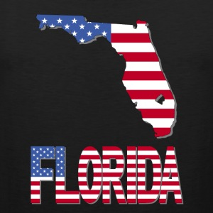 Florida Map With USA Flag Clipped Inside T-Shirt - Men's Premium Tank