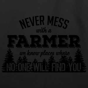 never mess with a farmer T-Shirts - Eco-Friendly Cotton Tote