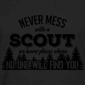 never mess with a scout T-Shirts - Men's Premium Long Sleeve T-Shirt
