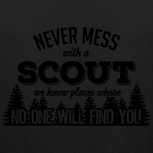 never mess with a scout T-Shirts - Men's Premium Tank