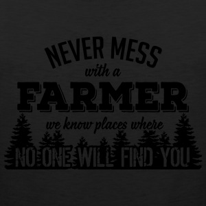 never mess with a farmer T-Shirts - Men's Premium Tank