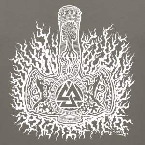 Mjolnir-Valknut-White Ladies - Men's Premium Tank