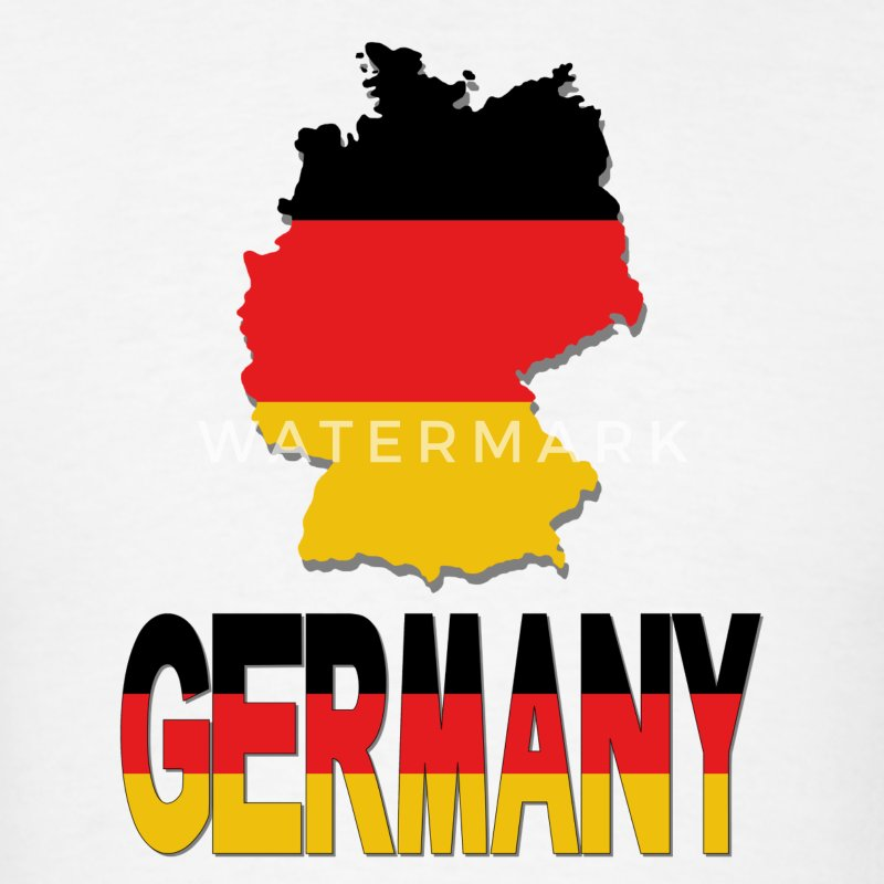 German Flag In German Map Germany T-Shirt - Men's T-Shirt