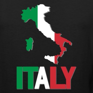 Italy Flag In Italy Map T-Shirt - Men's Premium Tank