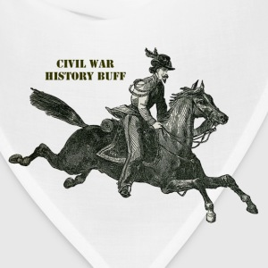 Civil War Confederate Cavalry Soldier on a Horse - Bandana