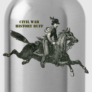 Civil War Confederate Cavalry Soldier on a Horse - Water Bottle