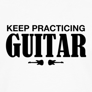 practicing guitar - Men's Premium Long Sleeve T-Shirt
