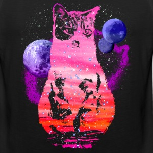 Space Cat with Planets - Men's Premium Tank