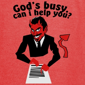God's  busy. Can i help? Bags & backpacks - Vintage Sport T-Shirt