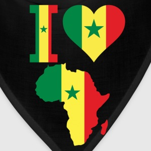 I love Africa Map Senegal Flag T-Shirt - Bandana