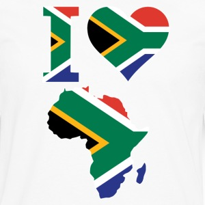 I Love Africa Map South Africa Flag T-Shirt - Men's Premium Long Sleeve T-Shirt