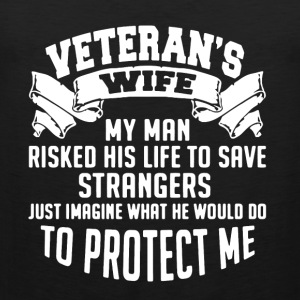 Veteran's Wife Shirt - Men's Premium Tank