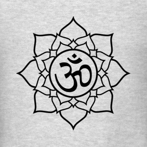 Lotus Yoga Oom Aum Namaste Meditation Tanks - Men's T-Shirt