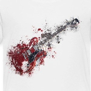 Splatter paint guitar music Kids' Shirts - Toddler Premium T-Shirt