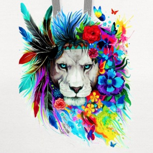 Hipster Lion - Contrast Hoodie