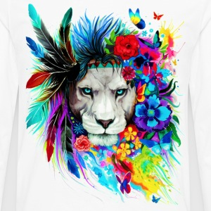 Hipster Lion - Men's Premium Long Sleeve T-Shirt