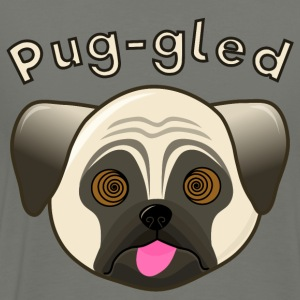 Humorous Pug - Puggled - Men's Premium T-Shirt