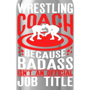 Wrestling Coach Shirt - Water Bottle