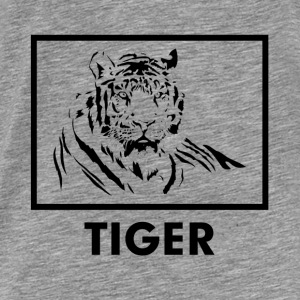 TIGER silhouette tattoo Hoodies - Men's Premium T-Shirt