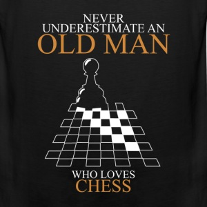 Never Underestimate An Old Man Chess T-Shirts - Men's Premium Tank