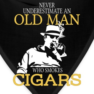 Never Underestimate An Old Man Who Smokes Cigars T-Shirts - Bandana