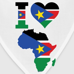 I Love Africa Map South Sudan Flag - Bandana