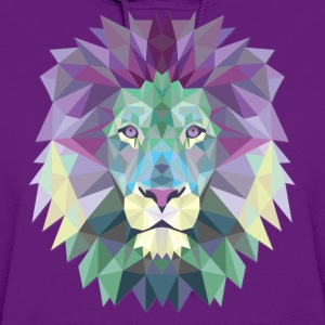 Polygonal Lion Head - Women's Hoodie