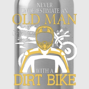 Never Underestimate An Old Man With A Dirt Bike T-Shirts - Water Bottle