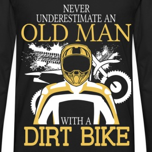 Never Underestimate An Old Man With A Dirt Bike T-Shirts - Men's Premium Long Sleeve T-Shirt