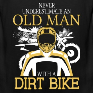 Never Underestimate An Old Man With A Dirt Bike T-Shirts - Men's Premium Tank