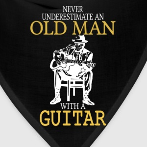 Never Underestimate An Old Man With A Guitar T-Shirts - Bandana