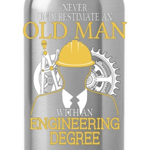 Never Underestimate Old Man Engineering Degree T-Shirts - Water Bottle