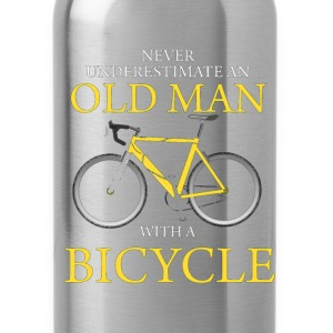 Never Underestimate Old Man With Bicycle T-Shirts - Water Bottle