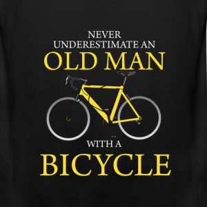 Never Underestimate Old Man With Bicycle T-Shirts - Men's Premium Tank