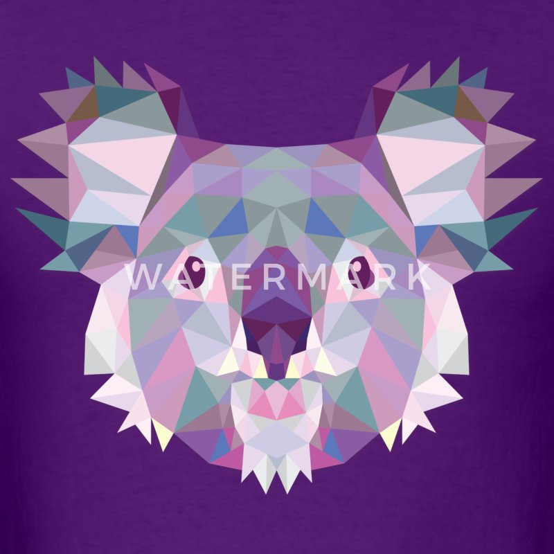 Polygonal Koala - Men's T-Shirt