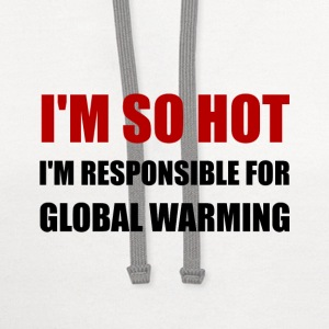 Responsible For Global Warming - Contrast Hoodie