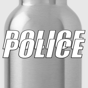 Police White T-Shirts - Water Bottle