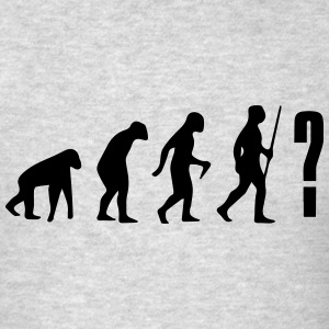 YOU NEVER KNOW WHERE THE EVOLUTION GOES! Long Sleeve Shirts - Men's T-Shirt