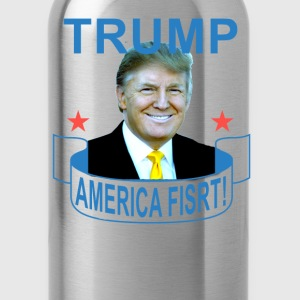 donald_trump_america_first_ - Water Bottle